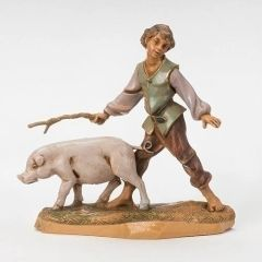 5 inch Fontanini Clement Boy with Pig Figurine 54088
