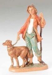 5 inch Fontanini Zachariah with Dog Figurine 52582