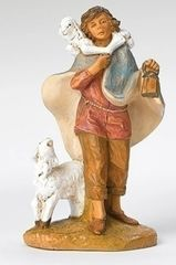 7.5 Inch Fontanini Paul the Shepherd with Sheep and Lamb figurine 52869