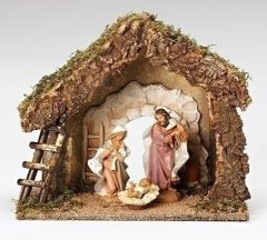 7.5 Inch Fontanini Nativity Stable Only 50850