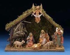 5 Inch Fontanini 7 pc Italian Nativity Stable Scene 54564