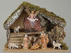 5 Inch Fontanini 9 pc Italian Nativity Stable Scene 54494