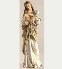 12 INCH HIGH Josephs Studio MADONNA AND CHILD FIGURINE WITH LAMB 40735