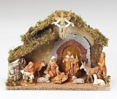 5 inch Fontanini Italian 10 Piece Nativity Stable 54481