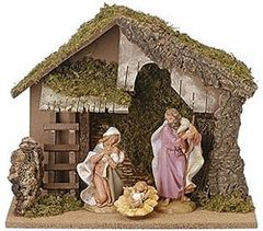 7.5 Inch Fontanini Nativity 4 pc Starter Set 54830