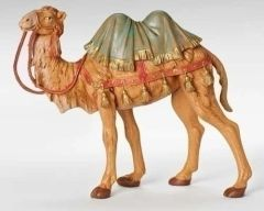 7.5 inch scale Fontanini camel with saddle blanket 52744