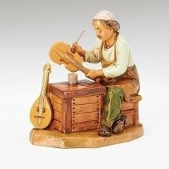 5 Inch Scale Fontanini Seated Zimri the Instrument Maker 54094