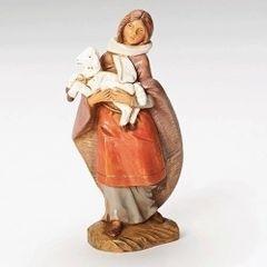 5 Inch Fontanini Emma Shepherdess Figurine w/Lamb 54079