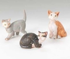 7.5 Inch Scale Fontanini Set of 3 Kittens 52831