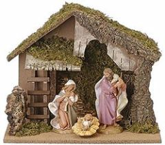 7.5 Inch Fontanini Nativity Stable Only 50830