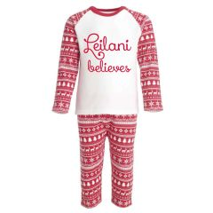 Personalised Christmas PJ's children's Pyjamas for Christmas