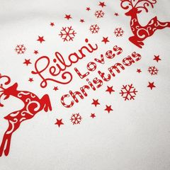 PERSONALISED BABY VEST - CHRISTMAS DESIGN
