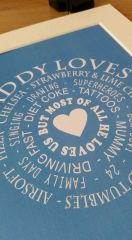 Daddy Loves..... Personalised