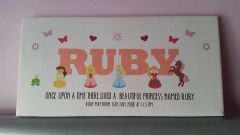 "Princess name personalised canvas 12"" x 6"""