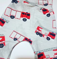 Fire Engine handmade leggings available in 0-6 years