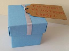 Ten things I love about Daddy - personalised cards in pretty box