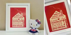 Home Sweet Home - Personalised great housewarming gift