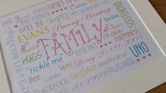 Personalised Word Art design - Great for family, Children, Engagements, Weddings and much more