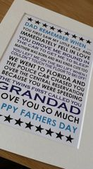Dad remember when...... personalised design