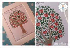 Teacher Tree. personalised thank you gift