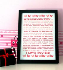 Remember when... personalised print or canvas prints