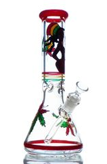 "GG157 - 13"" CUSTOMIZED RASTA BEAKER"