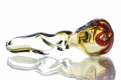 """GP14 - 4.5"""" Twisted, Color Changing Glass Pipe With Twisted Cane Head"""