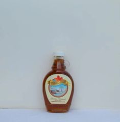 Glass bottle with Covered bridge maple Logo 250 ML