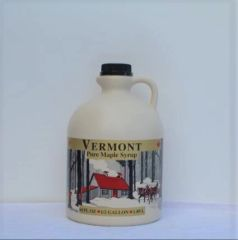 1/2 gal plastic jug, Vermont maple syrup