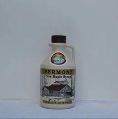1 Quart plastic jug Vermont maple syrup.