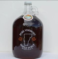 1 Gallon Glass Jug of Pure Vermont Maple Syrup