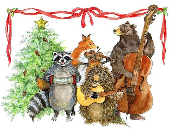 Holiday tunes from the Woodsy Four band - 12-card set
