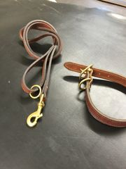 HEAVY DUTY HARNESS LEATHER DOG COLLAR