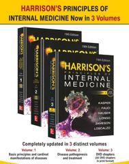 Harrison's Principles of Internal Medicine 19th Edition ( 3 Volume Set) Hardcover