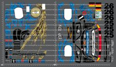 1/10TH TAM 58193 - PORSCHE 911 GT1 DECALS
