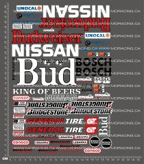 1/10TH SHORT COURSE TRUCK - BUDWEISER NISSAN DECALS