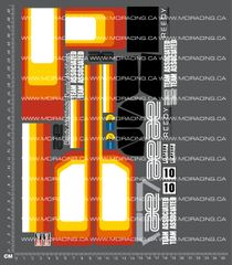1/10TH ASSOCIATED - RC10 - PROTECH 2 - GRAPHITE EDITION BOX ART DECALS