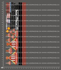 1/8TH MOTORCYCLE - HANG ON RIDER (HOR) MOTORCYCLE DECALS - HB INTERNATIONAL