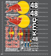 1/10TH SHORT COURSE TRUCK - BULL DECALS
