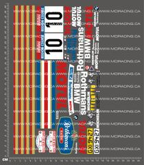 1/10TH BMW M3 ROTHMANS 1987 DECALS