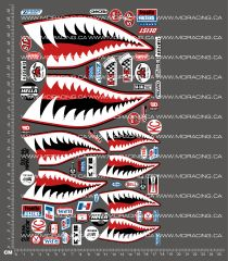 1/10TH SHARK BITE SPONSOR DECALS