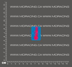 1/10TH BATTERY RC SUB C CELL - MATCHED BATTERY LABEL - ORION PINK AND BLUE