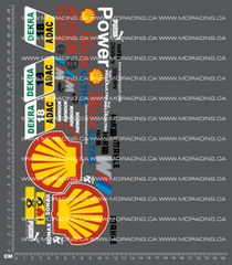 1/10TH DTM - SHELL DECALS