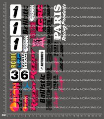 1/10TH ASSOCIATED - RC10L2 - MIKE SWAUGER DECALS