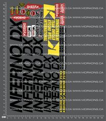 1/10TH KYOSHO - INFERNO DX DECALS