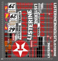 1/10TH KYOSHO - FORD COSWORTH RS 500 SIERRA DECALS