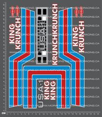 1/10TH MONSTER TRUCK - KRUNCH - CLASSIC DECALS