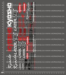 1/10TH KYOSHO - LAZER ZX-S DECALS