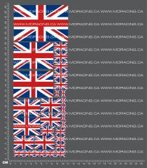 1/10TH FLAGS - UNITED KINGDOM DECALS