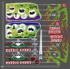 1/10TH MONSTER TRUCK - DIGER V2 DECALS